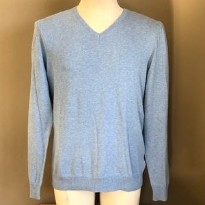 H&M Baby Blue 100% Cotton Pullover Sweater Sz M